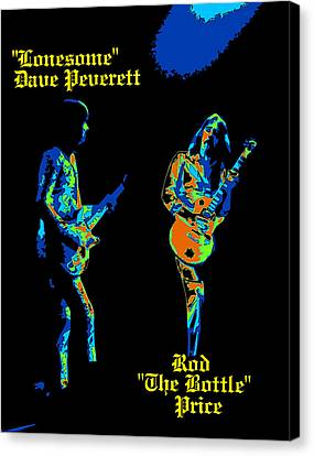 Lonesome Dave And Bottle Rod Canvas Print