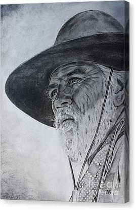 Lonesome Dove Stare Canvas Print by Jeffrey McDonald