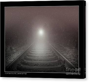 Lonesome Night Train Canvas Print by Pedro L Gili