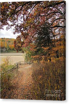 Lonesome Path Canvas Print by Minding My  Visions by Adri and Ray