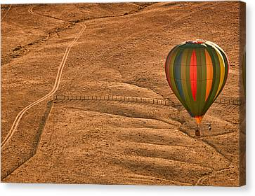 Balloon Festival Canvas Print - Lonesome Road by Keith Berr