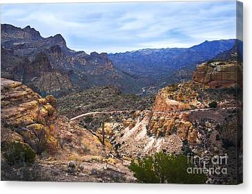 Long And Winding Apache Trail Canvas Print
