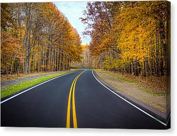 Canvas Print featuring the photograph Long And Winding Road by Brent Durken