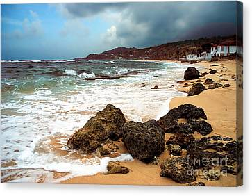 Long Bay - A Place To Remember Canvas Print by Hannes Cmarits