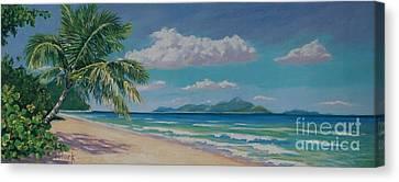 Long Bay Beach  9x23 Canvas Print