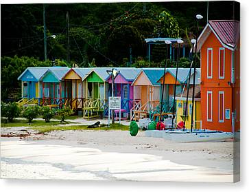Long Bay Beach Shops Canvas Print