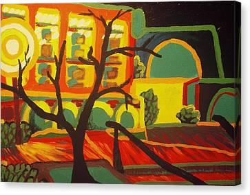 Long Beach Apartment Nightscape Canvas Print