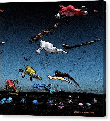 Long Beach Kites 2012 Canvas Print