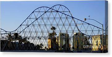 Canvas Print featuring the photograph Long Beach Lines by Clayton Bruster
