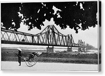 Long Bien Bridge Canvas Print by Cci Archives
