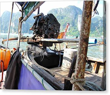 Long Boat Tour - Phi Phi Island - 01131 Canvas Print by DC Photographer