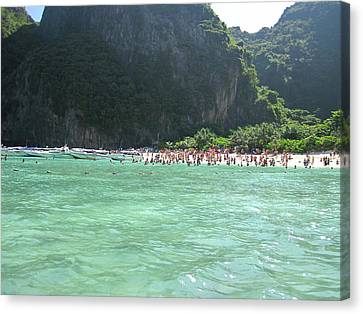 Sun Canvas Print - Long Boat Tour - Phi Phi Island - 0113118 by DC Photographer