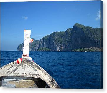 Long Boat Tour - Phi Phi Island - 0113134 Canvas Print by DC Photographer
