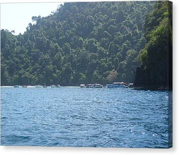Long Boat Tour - Phi Phi Island - 0113164 Canvas Print by DC Photographer