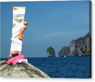 Long Boat Tour - Phi Phi Island - 0113182 Canvas Print by DC Photographer