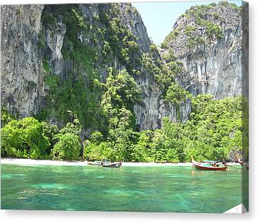 Long Boat Tour - Phi Phi Island - 0113210 Canvas Print by DC Photographer