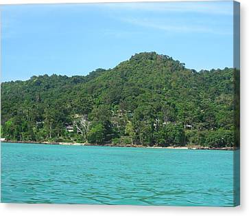 Ocean Canvas Print - Long Boat Tour - Phi Phi Island - 0113275 by DC Photographer