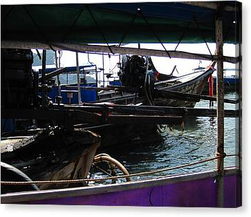 Long Boat Tour - Phi Phi Island - 01133 Canvas Print by DC Photographer
