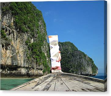 Long Boat Tour - Phi Phi Island - 011352 Canvas Print by DC Photographer