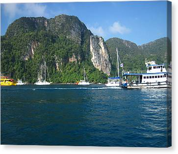 Long Boat Tour - Phi Phi Island - 01139 Canvas Print