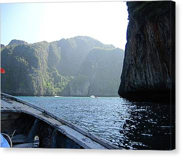 Long Boat Tour - Phi Phi Island - 011394 Canvas Print by DC Photographer