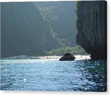 Thailand Canvas Print - Long Boat Tour - Phi Phi Island - 011395 by DC Photographer