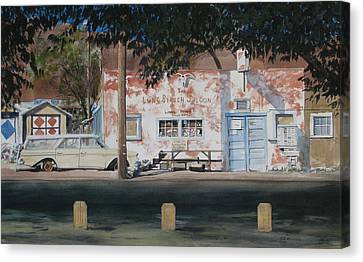 Long Branch Saloon Luning Nevada Canvas Print by Richard Eaves Woods