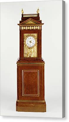 Long Case Musical Clock Clock Case By David Roentgen Canvas Print by Litz Collection