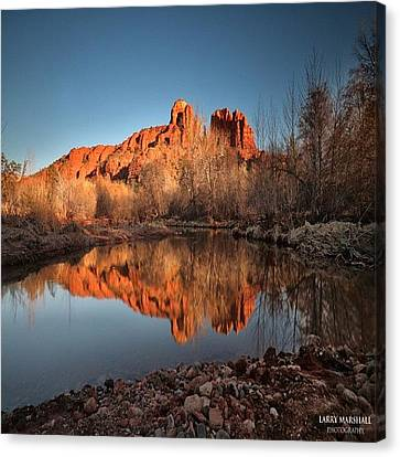 Long Exposure Photo Of Sedona Canvas Print by Larry Marshall