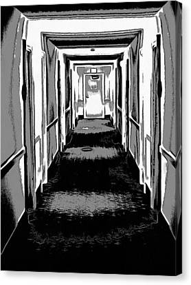 Long Hallway Canvas Print by Dan Sproul
