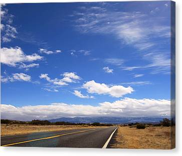 Canvas Print featuring the photograph Long Highway by Bob Pardue