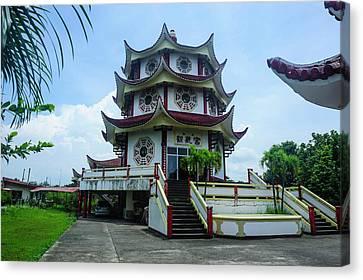 Long Hua Temple, Davao, Mindanao Canvas Print by Michael Runkel