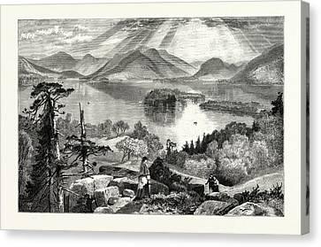 Thomas Moran Canvas Print - Long Island, Lake George by American School