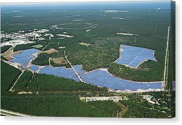Long Island Solar Farm Canvas Print by Brookhaven National Laboratory