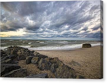 Long Island Sound Whitecaps Canvas Print