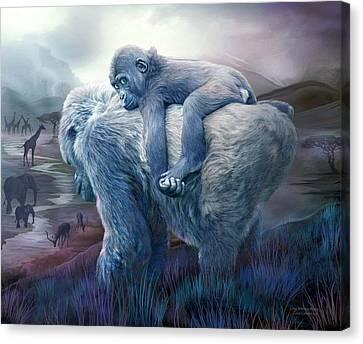Silverback Gorilla - Long Journey Home Canvas Print by Carol Cavalaris