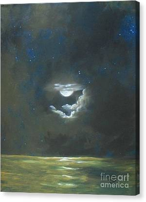 Canvas Print featuring the painting Long Journey Home by Marlene Book