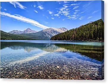 Long Knife Peak At Kintla Lake Canvas Print by Scotts Scapes
