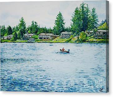 Long Lake Canvas Print by Zaira Dzhaubaeva
