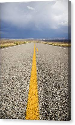 Long Lonely Road Canvas Print by Adam Romanowicz