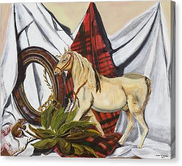 Canvas Print featuring the painting Long May He Ride by Susan Culver