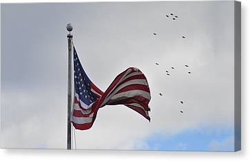 Long May You Wave Canvas Print by Bill Cannon