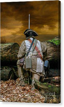 French And Indian War Canvas Print - Long Night Late Morning by Randy Steele