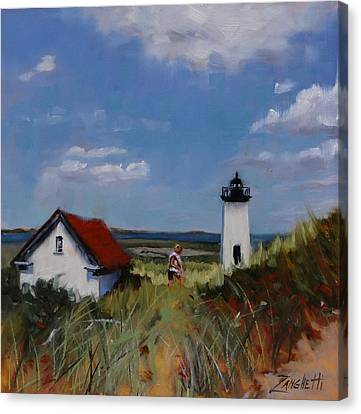Long Point Lighthouse Canvas Print by Laura Lee Zanghetti
