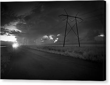 Canvas Print featuring the photograph Long Road Home by Bradley R Youngberg