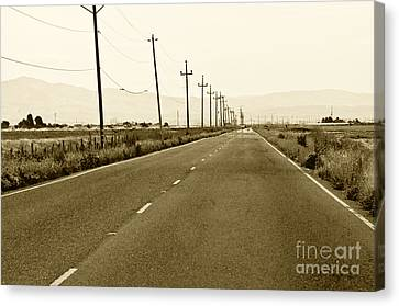 Long Road Home Canvas Print by Artist and Photographer Laura Wrede