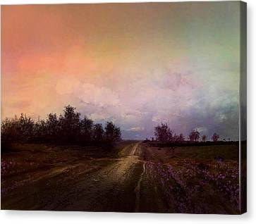 Long Road Canvas Print by Robert Foster