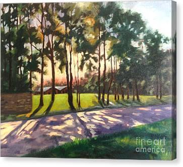 Long Shadows On Longmire  Canvas Print by Nancy  Parsons