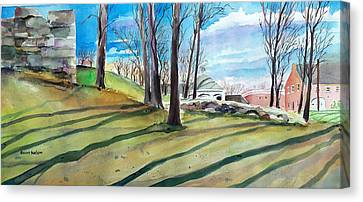Millbury Canvas Print - Long Shadows by Scott Nelson