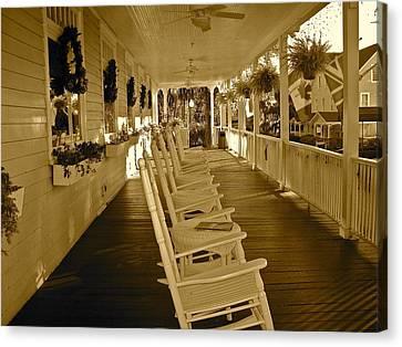 Long Southern Porch Canvas Print